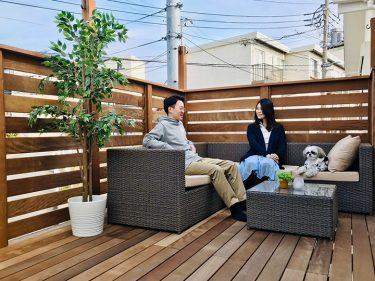 横浜市 S様邸 車庫上デッキ・ベランダデッキ施工事例