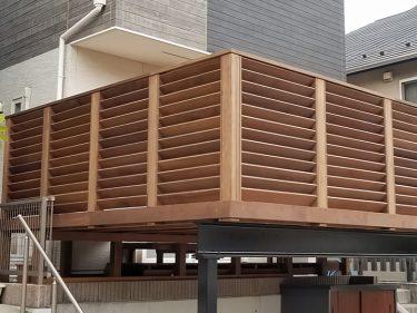 横浜市 N様邸 車庫上ウッドデッキ施工事例