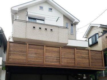 横浜市 S様邸 駐車場デッキ施工事例