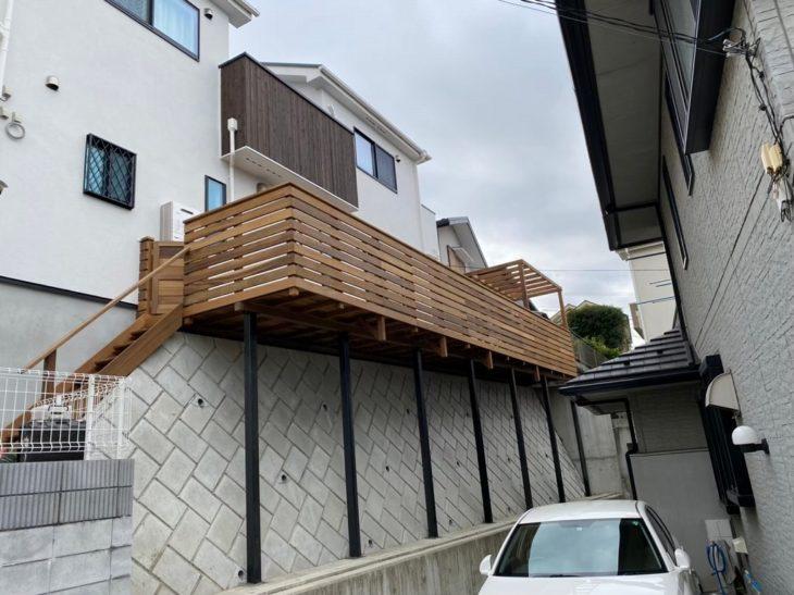 プライベートハイデッキ 敷地の有効活用 横浜市瀬谷区