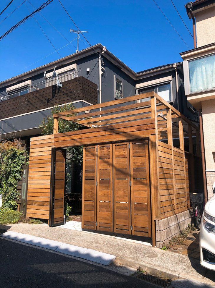 駐車場を2WAYで活用、新しいデッキスペースへ 横浜市港北区