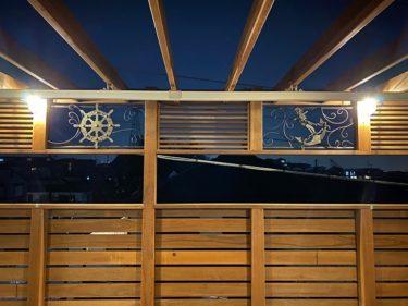 自宅に帰るのが楽しみになる「木とアイアンのプライベートデッキ」 横浜市金沢区