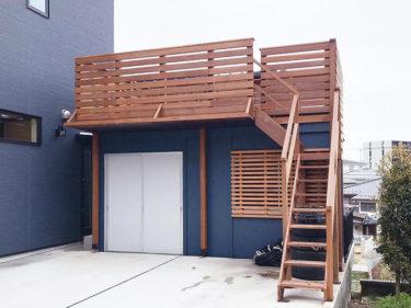 横浜市 M様邸 コンテナハウス ウッドデッキ施工事例